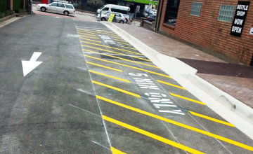 Brookvale Hotel Road Linemarking